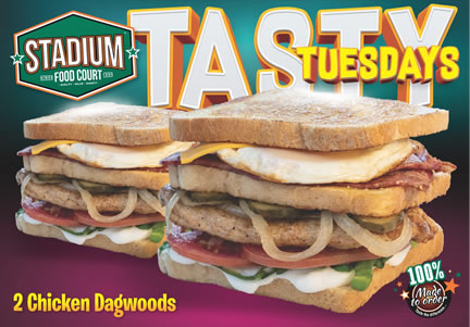 Tuesday Special At Stadium Fast Foods